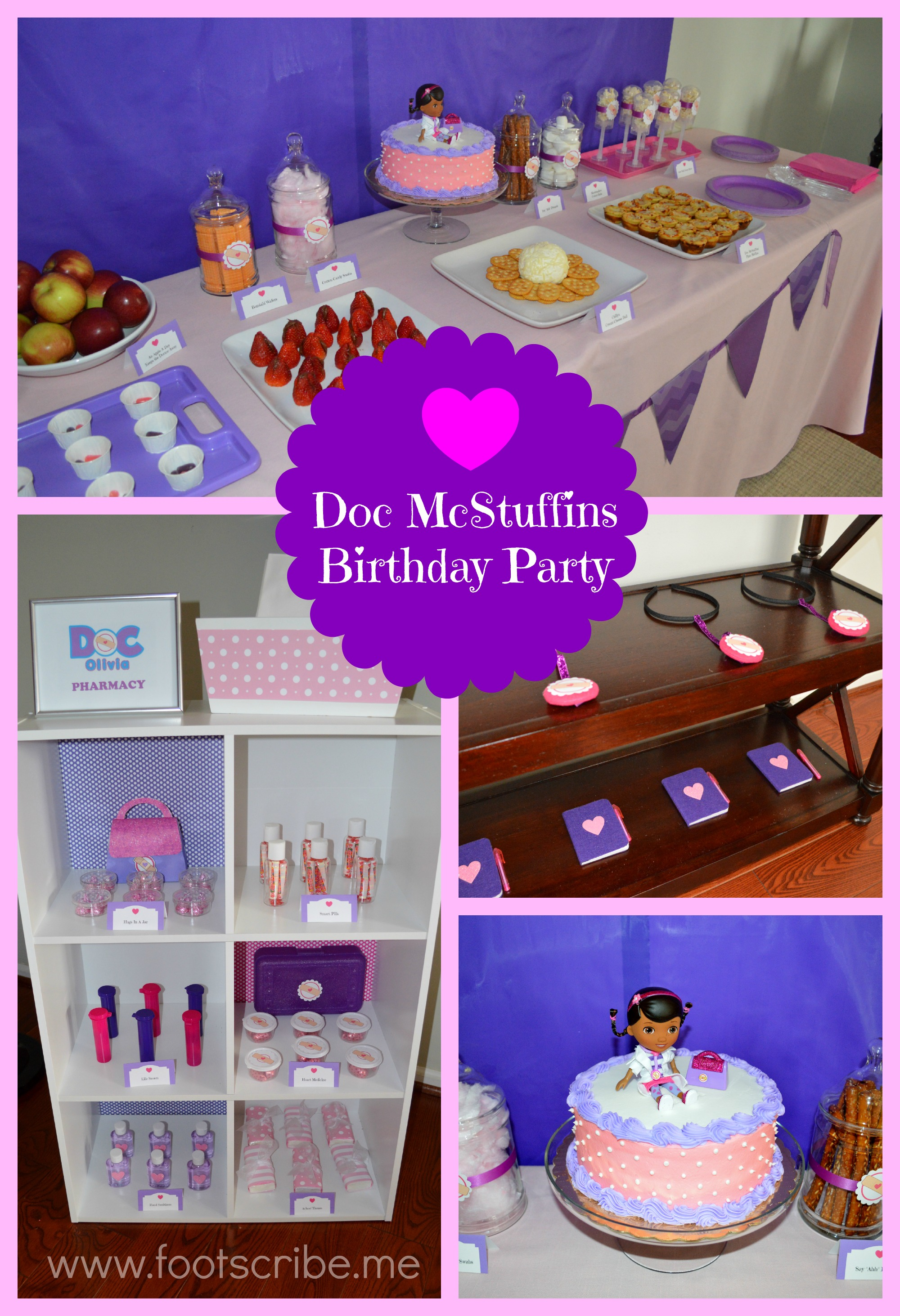 Medical Themed Party Food Foot Scribe