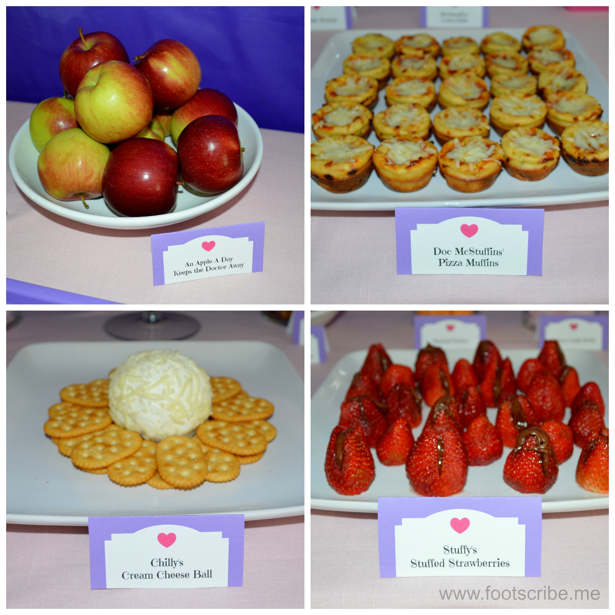 Doc McStuffins Birthday Themed Party Food